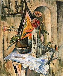 カルピスの包み紙のある静物1923.jpg