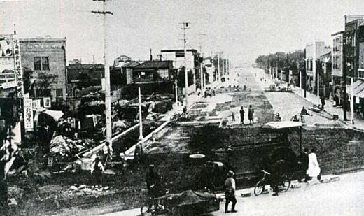 グリーン大通り工事1937頃.jpg