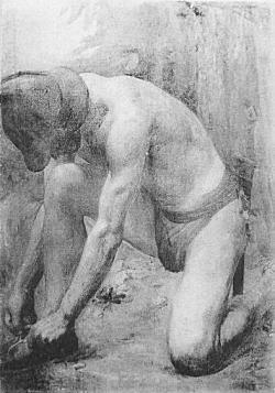 中村不折「黎明」1916.jpg