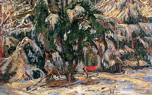 中村彝「庭の雪」1919.jpg