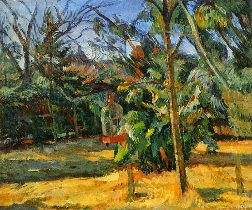 中村彝「鳥籠のある庭の一隅」1918.jpg