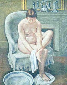 二瓶等「足を拭ふ女」1929.jpg