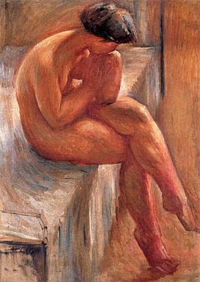 佐伯祐三「ベッドに坐る裸婦」1923.jpg
