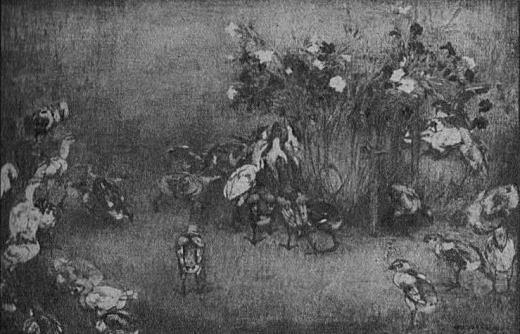 吉田博「ひよこ」1929帝展.jpg