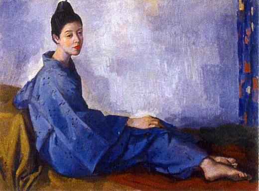 名渡山愛順「青藍絣の女」1959.jpg