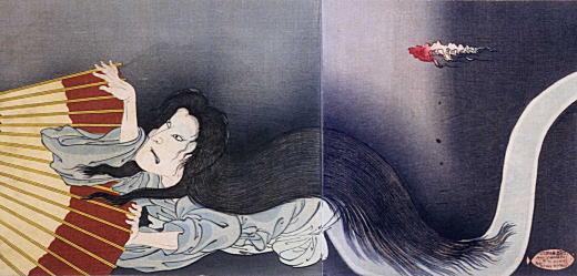 国周「皿屋舗化粧姿鑑」1892.jpg