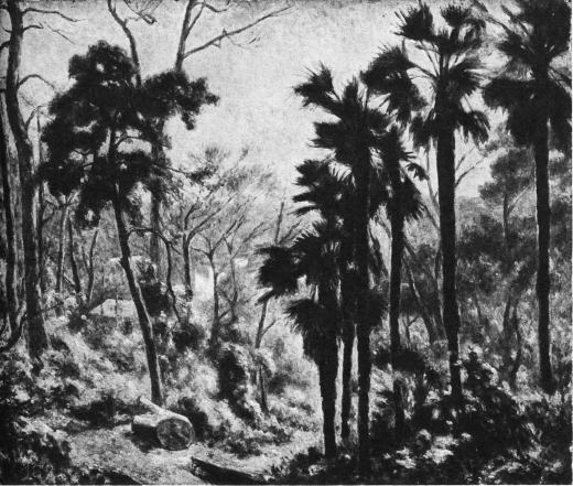 大久保作次郎「早春(学習院の庭)」1948.jpg