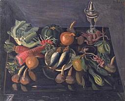 小出楢重「卓上静物」1928.jpg
