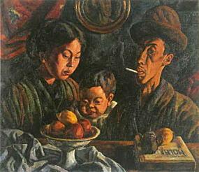 小出楢重「Nの家族」1919.jpg