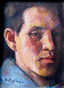 小島善太郎「27歳の自画像」1919.jpg
