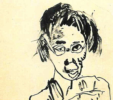 小熊秀雄「小熊夫人像」1930年代.jpg