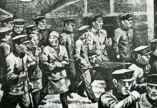 小野沢亘「市電従業員のデモ」1930.jpg