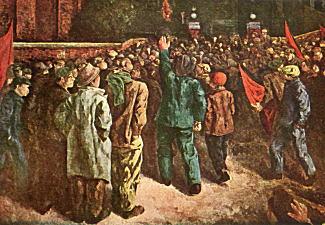 岡本唐貴「争議団の工場襲撃」1929.jpg