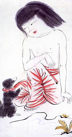 岸田劉生「裸の麗子」大正期.jpg