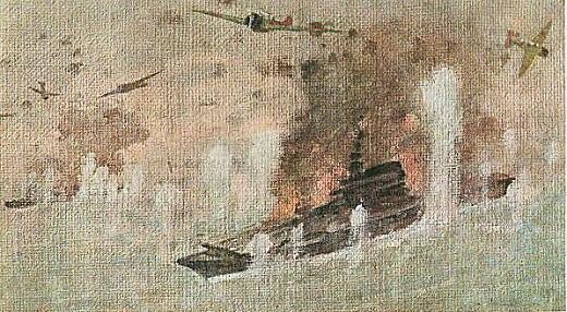 有岡一郎「南太平洋海戦」1942.jpg