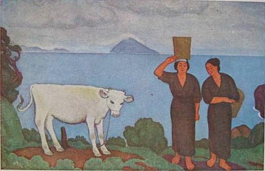 満谷国四郎「島の女」1922.jpg