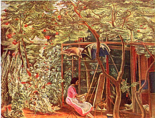 牧野虎雄「百日紅の下」1922.jpg
