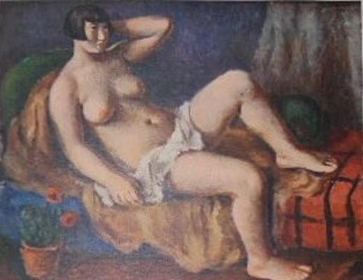 田口省吾「帽子を配せる裸婦」1926.jpg