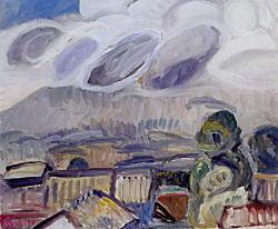 甲斐仁代「曇りの日の浅間山」1958.jpg