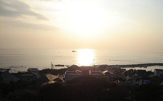 葉山海岸の夕暮.JPG