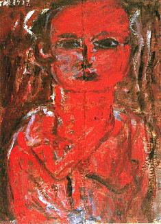 長谷川利行「赤い少女」1932.jpg