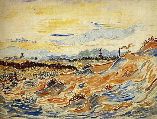 高麗山の見える砂丘1923.jpg