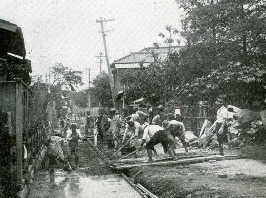 鶴巻川暗渠工事1932.jpg