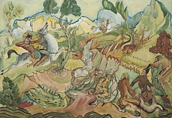 「ロシュテファン王とアワタンディの狩猟」不詳.jpg
