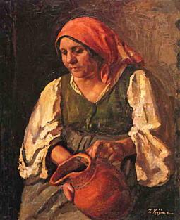 ナポリの老婆(テレサ母像)1924.jpg