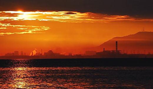 ペナン島の夕暮れ.jpg