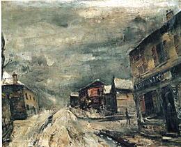 佐伯祐三「パリ雪景」1925頃.jpg