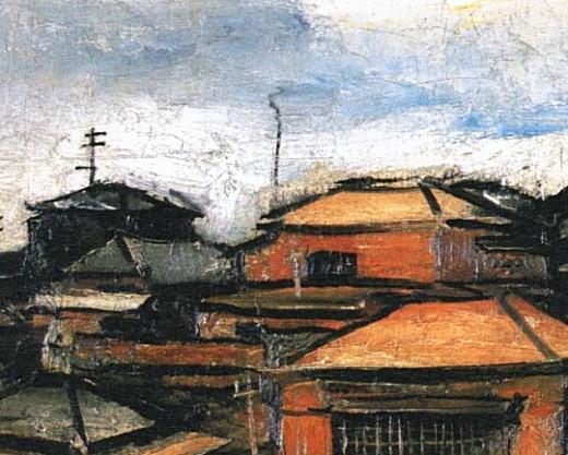 佐伯祐三「曾宮さんの前」1926.jpg