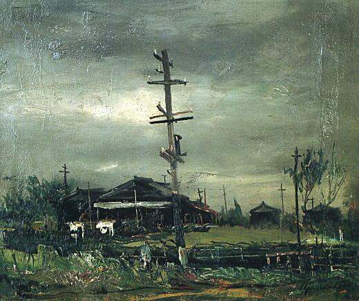 佐伯祐三「洗濯物のある風景」1926.jpg