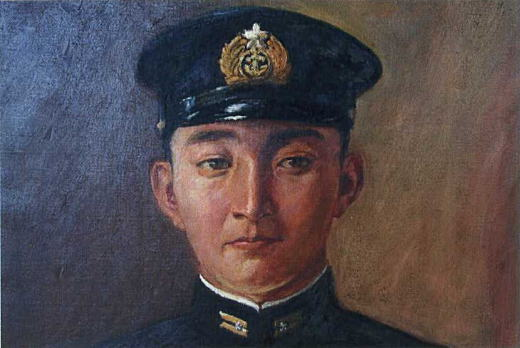 刑部人「稲垣米太郎海軍少佐の肖像」1944.jpg