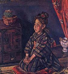小出楢重「少女梅の像」1920.jpg