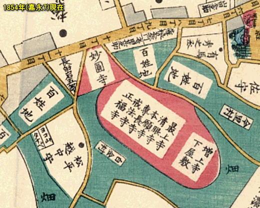 尾張屋切絵図目黒白金図1854.jpg