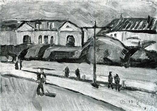 岸田劉生「築地居留地風景」19120619.jpg