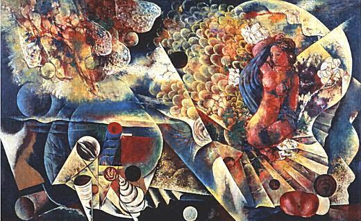 川口軌外「少女と貝殻」1934.jpg