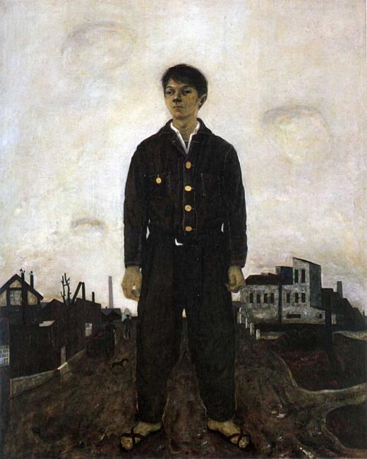 松本竣介「立てる像」1942.jpg