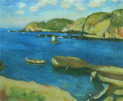正宗得三郎「河港」1911.jpg