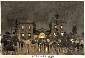 清親「新橋ステンション」1877年ごろ.jpg