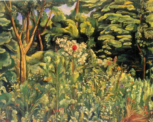 牧野虎雄「花苑」1920.jpg