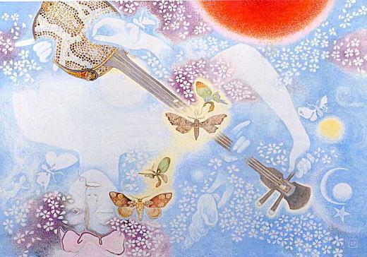 竹中英太郎「桜散る女」1975.jpg