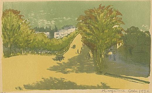 織田一麿「明治神宮参道」1930.jpg