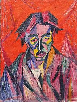 萬鉄五郎「赤い目の自画像」1913.jpg