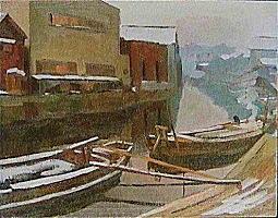 野田半三「水道橋の朝Ⅰ」1937.jpg