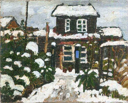 雪の我が家1946.jpg