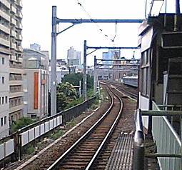 高田馬場駅から事故現場.JPG