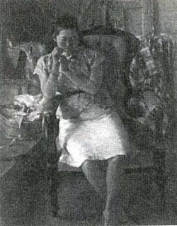 鬼頭鍋三郎「椅子による」1947.jpg