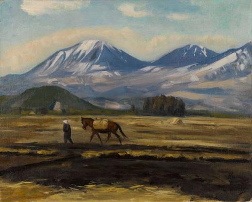 鶴田吾郎「早春の日光三山」1946.jpg